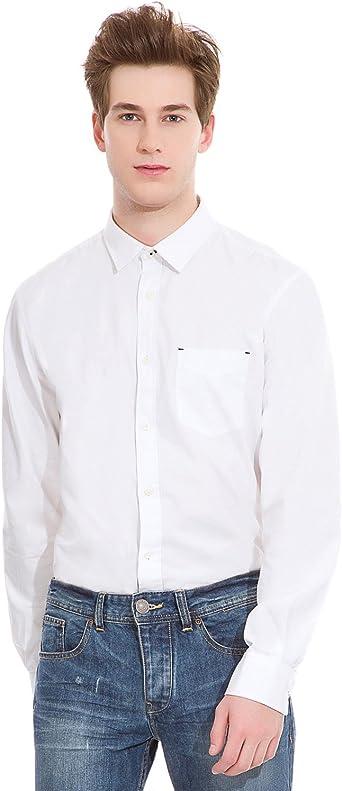 Springfield Camisa Sport SB Popelin Codera Blanco S: Amazon ...