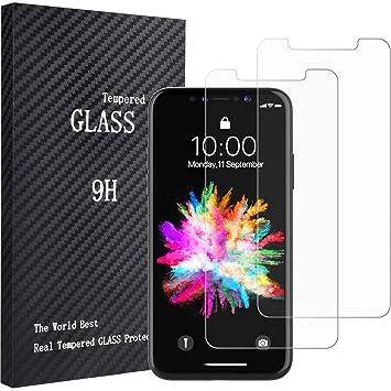 Lvcky iPhone X Protection d\'écran en Verre, (Lot de 2) HD Clair ...