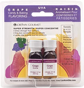 LorAnn Grape Super Strength Flavor, 1 dram bottle (.0125 fl oz - 3.7ml) -Twin pack Blistered