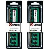QUMOX Memoria DIMM para computadora Desktop 4GB(2x 2GB) DDR2 800MHz PC2-6300 PC2-6400 DDR2 800 (240 PIN)