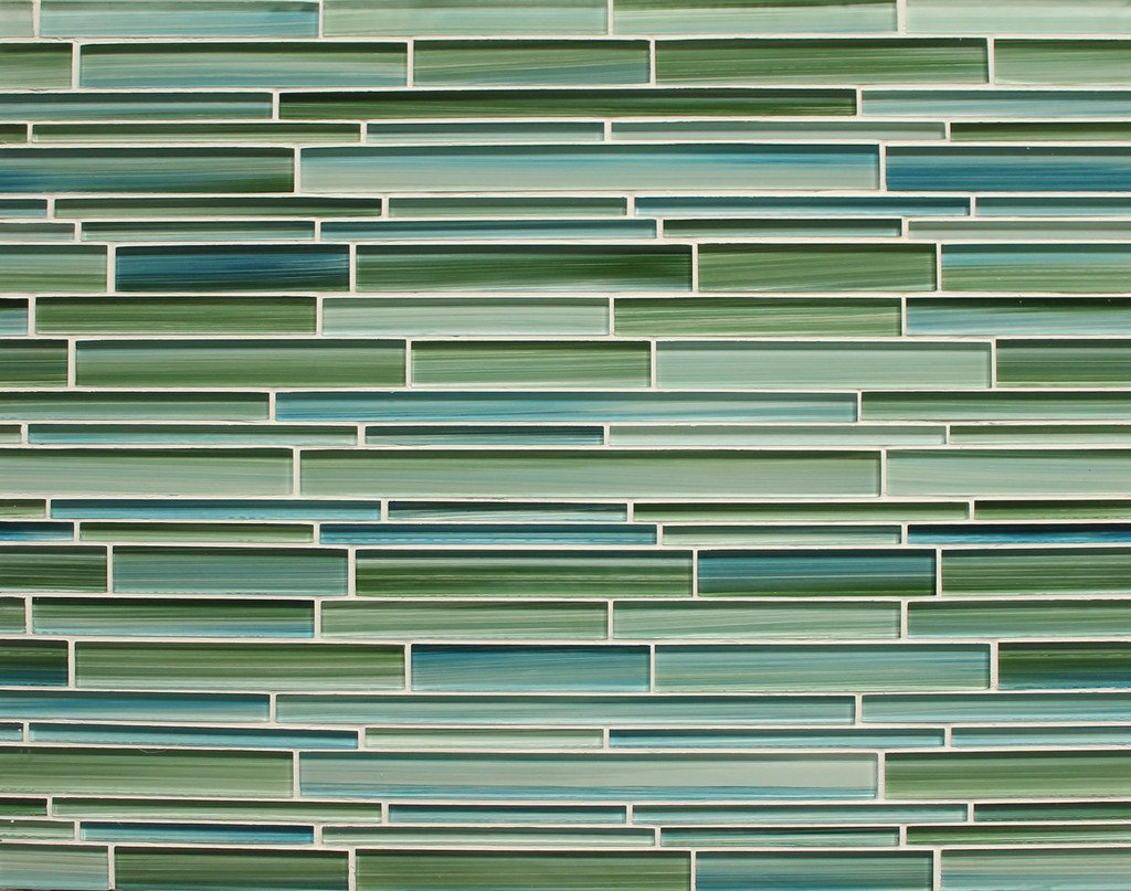 sample rip curl green and blue hand painted linear glass mosaic tiles amazoncom - Mosaic Tiles
