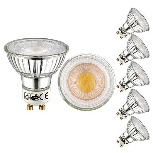 EACLL Bombilla LED GU10, Blanco Cálido GU10 LED 5W 460 Lúmenes Lámpara LED equivalente a