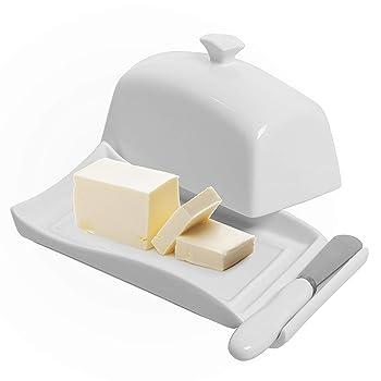 MyGift Ceramic Lidded Butter Keeper