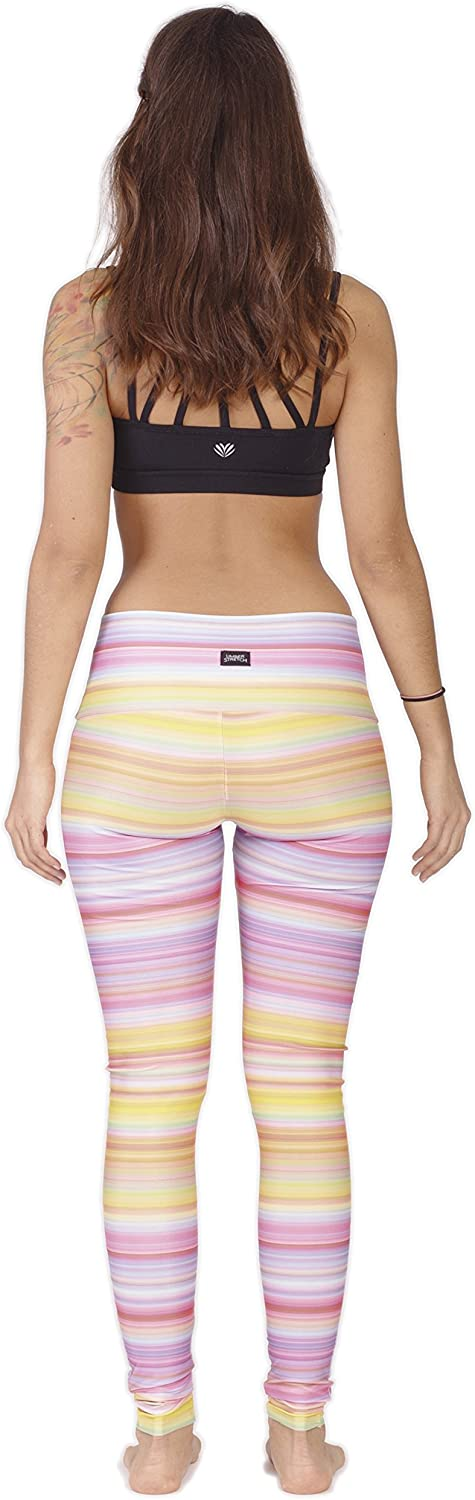 Limber Stretch High Performance Illusion Yoga Leggings Figure Flattering Design Every Woman