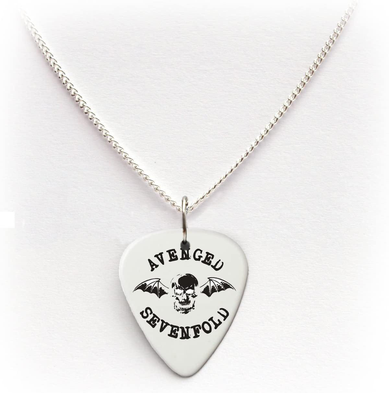 Avenged Sevenfold A7 X púa de guitarra púa cadena collar 24 ...