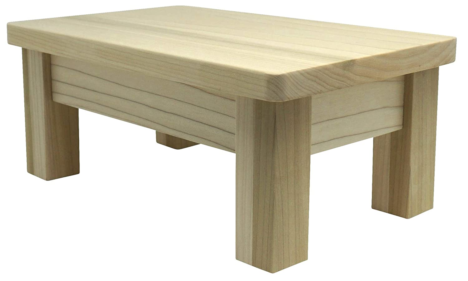 HollandCraft - 6 Wooden Foot Stool - Unfinished - Hidden Wood Dowels (No Screws, Staples or Nails)