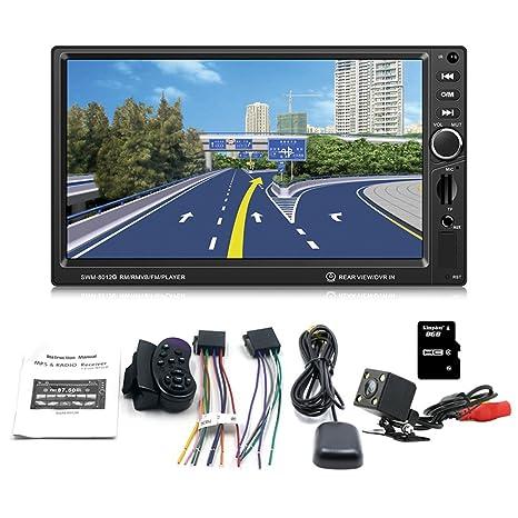 swm-8012g 7-inch pantalla grande coche estéreo GPS DVD coche de navegación freno