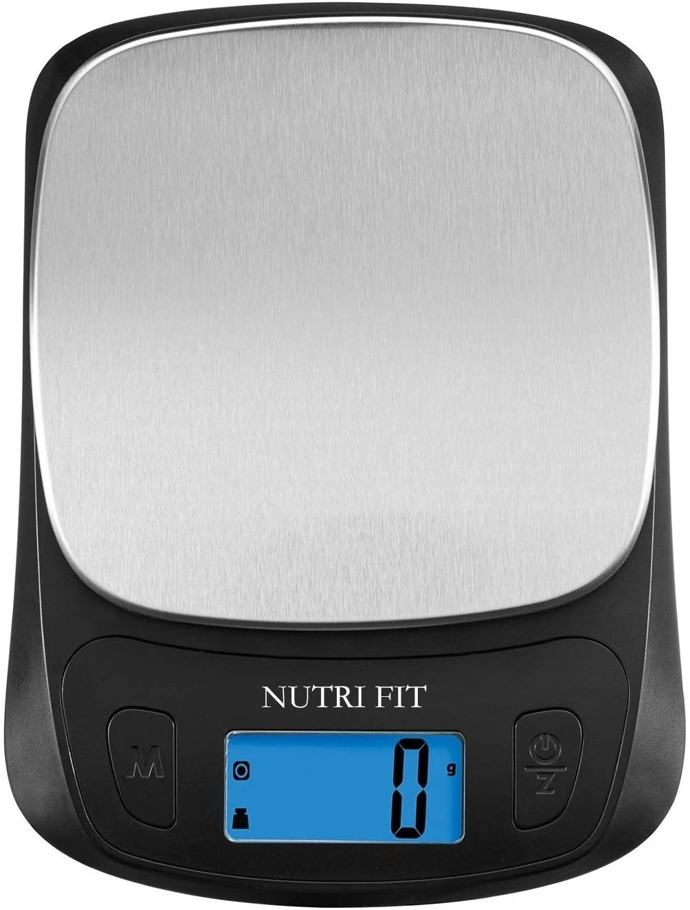 NUTRI FIT Mini Scale Digital Food Weight Scale in Kitchen for Cooking Dieting Tare & Backlit LCD Display Weights in Grams and Ounces,Black