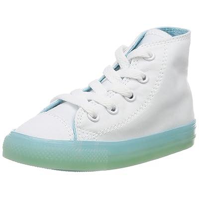 Converse CTAS Hi White/Bleached Aqua, Chaussons Souples Mixte Bébé