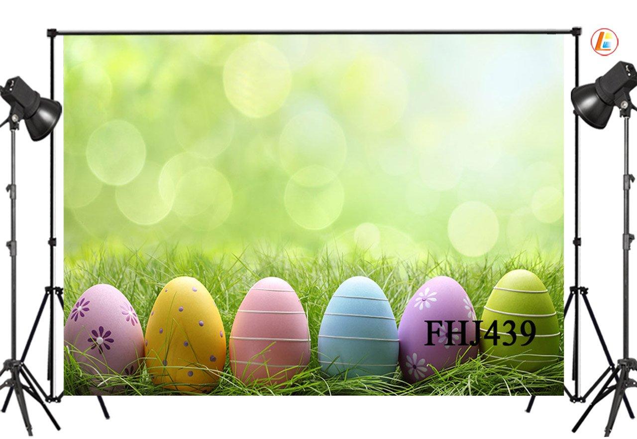 LB 7x5ft Easter theme Vinyl Photography Backdrop Customized Photo Background Studio Prop FHJ439