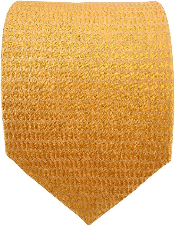 giallo zafferano giallo scuro lavorato Cravatta in seta Tie Cravatte di seta di raso TigerTie