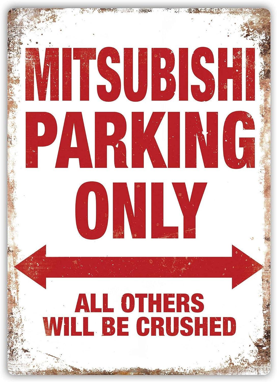 Mitsubishi Parking Only Blechschilder Dekoration Retro Vintage Metall Stil Retro Poster Cafe Bar Movie Gift Bathrooms Garages