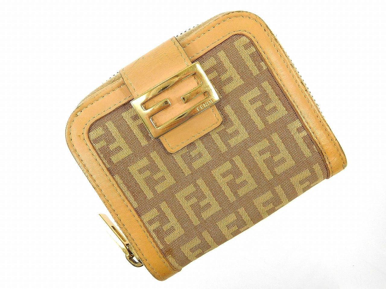 [フェンディ] FENDI 二つ折り財布 ズッカ キャンバス×レザー X14402 中古   B06XDNF29M