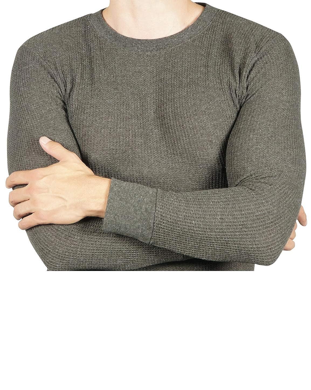 Joe Boxer Mens Thermal Shirt 2 Pack Long Sleeve Undershirt Crew Neck Waffle Top