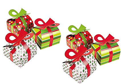 Gift box with bow White Image Unavailable Image Not Available For Color 3d Christmas Gift Boxes With Bow Amazoncom Amazoncom 3d Christmas Gift Boxes With Bow Party Favor Goody