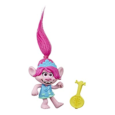 DREAMWORKS TROLLS World Tour Poppy, Collectible Doll with Ukulele Accessory, Toy Figure Inspired by The Movie Trolls World Tour (n/a): Toys & Games