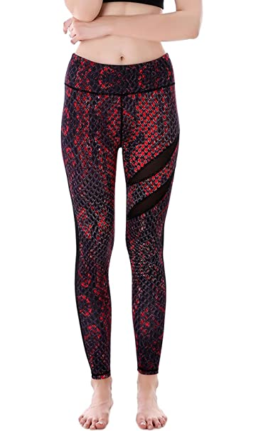 e183552b339ae7 Aivtalk Women's Sexy Stretch Leggings Fashion Patterned Tights Snake Printed  Skinny Party Leggings Jeggings Red S