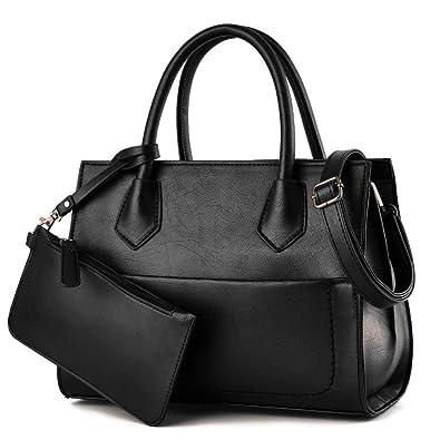 B E LIFE Women s Fashion Pu Leather Handbag Shoulder Bag Tote Purse 2 pcs  Set  Amazon.co.uk  Shoes   Bags 85da539949806