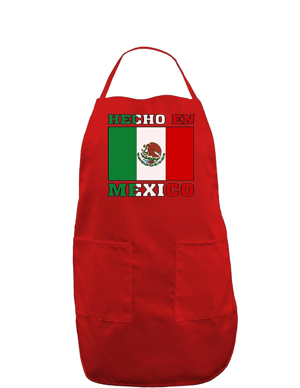Hecho en Mexico Flag Dark Adult Apron