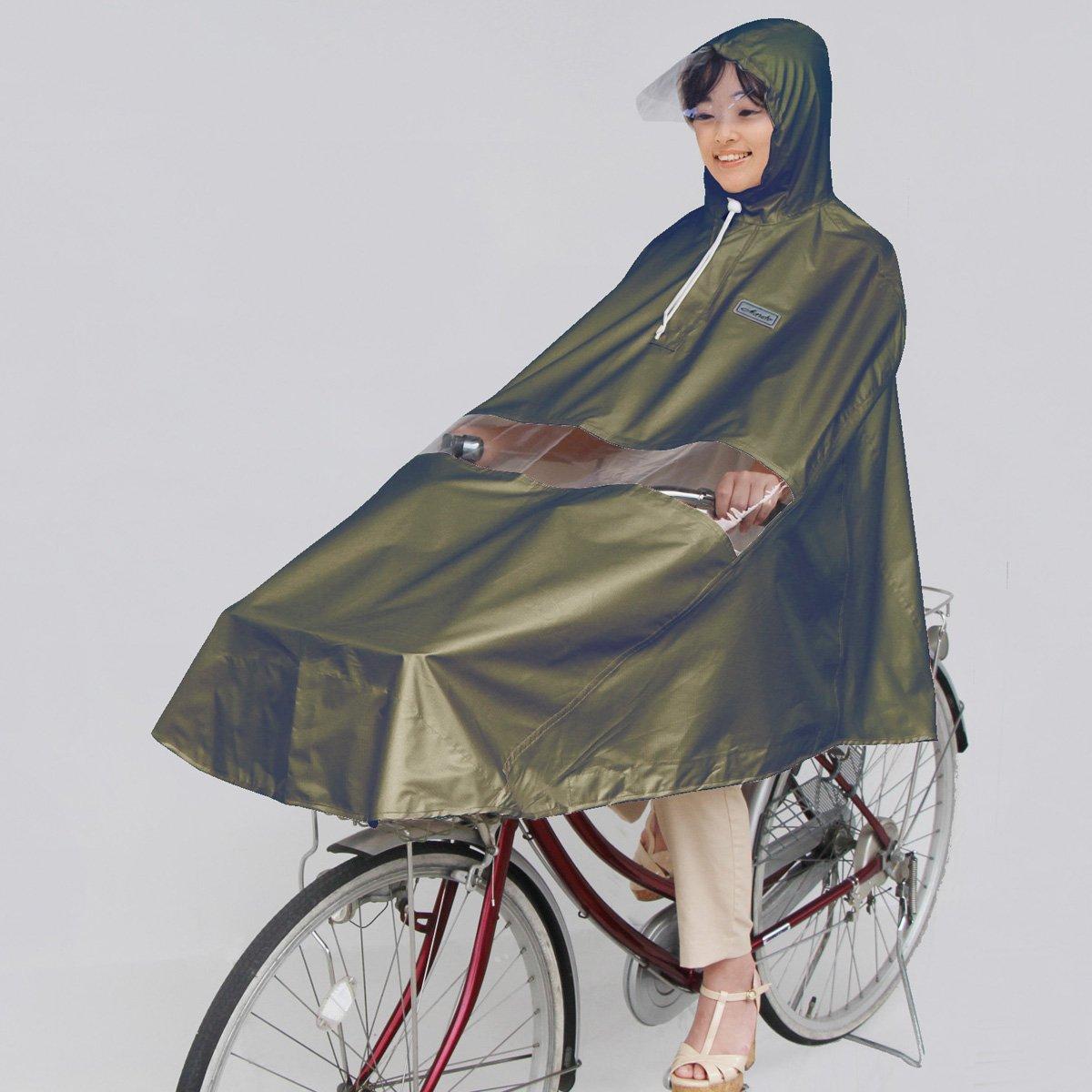 マルト(MARUTO) 自転車屋さんのポンチョ プレミアム カーキ 34613