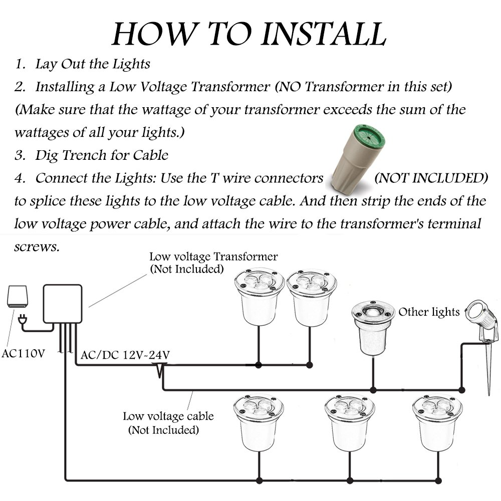 Light Wiring Diagram 110v Driveway Libraries For Low Voltage Path Lights Simple Diagramlight Box Camper