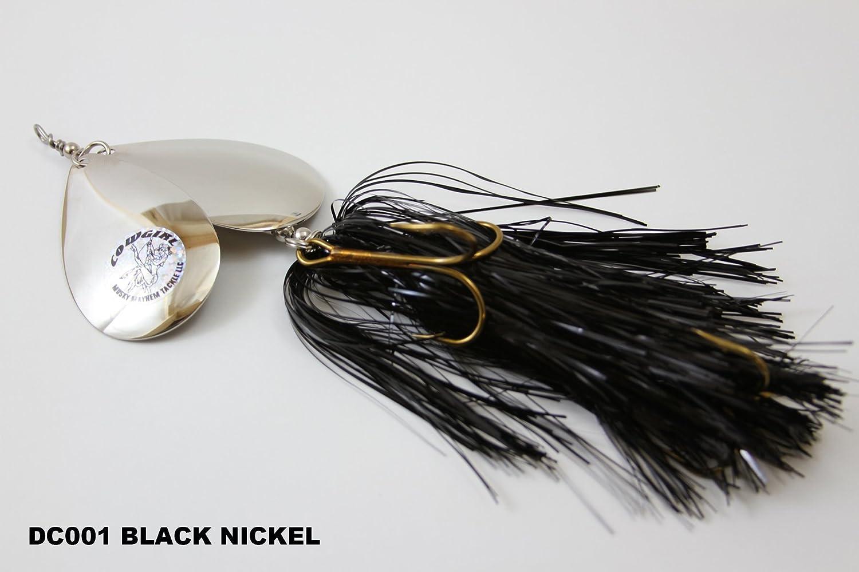 Musky Mayhem Tackle LLCダブルカウガール B003H3LYR0 DC001 BLACK NICKEL DC001 BLACK NICKEL