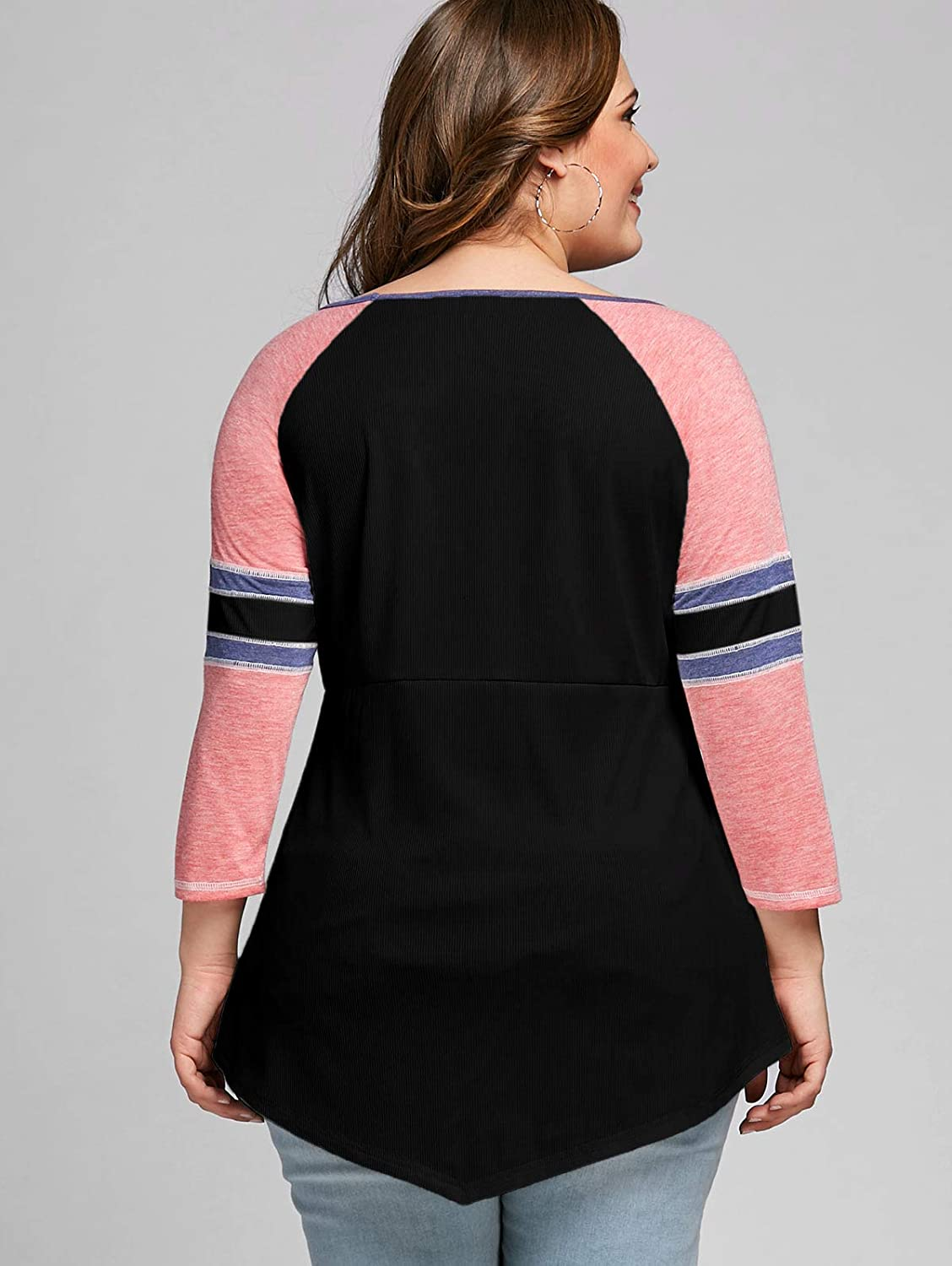 Long Sleeve Tunic Tops Lightweight Pullover Plus Size Mrsrui Women Cold Shoulder T-Shirt
