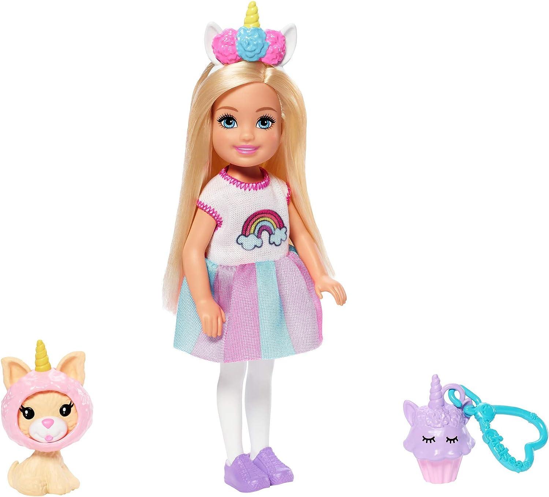 Amazon.es: Barbie- Chelsea disfraz de arcoiris, muñeca con ...