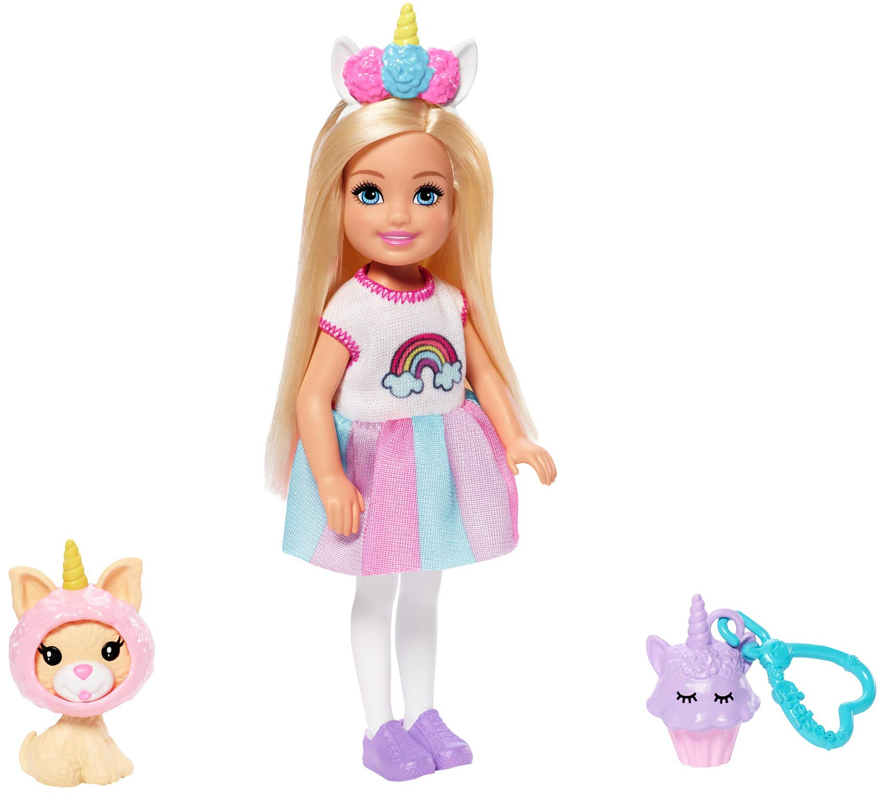 Barbie Club Chelsea Dress-Up Doll in Unicorn Costume with Accessories, 6-Inch Blonde, for 3 to 7 Year Olds