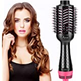 Hot Air Brush, Aima Beauty Salon One-Step Hair Dryer and Volumizer, 4-in-1 Upgrade Hair Dryer Brush Black