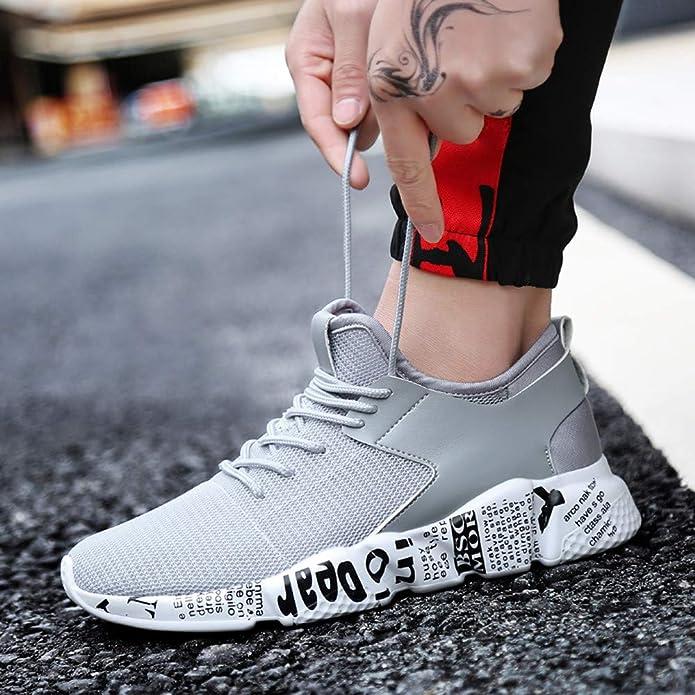 Logobeing Hombre Mujer Zapatillas de Running Zapatos ...