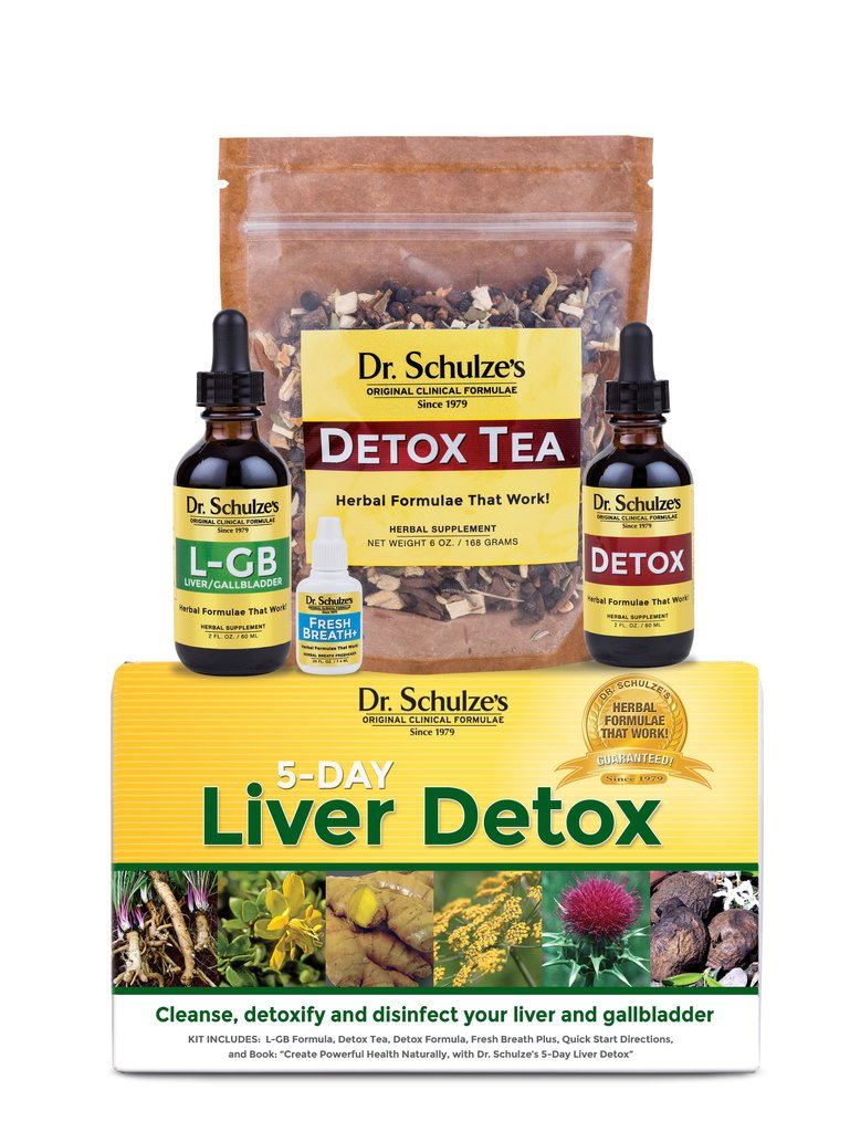 Dr. Schulze's   5-Day Liver Detox   May Cleanse & Disinfect Gallbladder   Herbal Supplement   Weight Loss Aid   May Protect Liver Cells & Eliminates Harmful Contaminants   Flushes Toxins