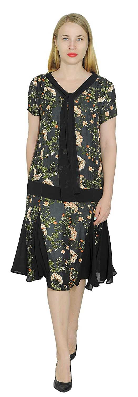 Great Gatsby Dress – Great Gatsby Dresses for Sale Marycrafts Woment Drop Waist 1920s Lined Floral Godet Dress $40.90 AT vintagedancer.com