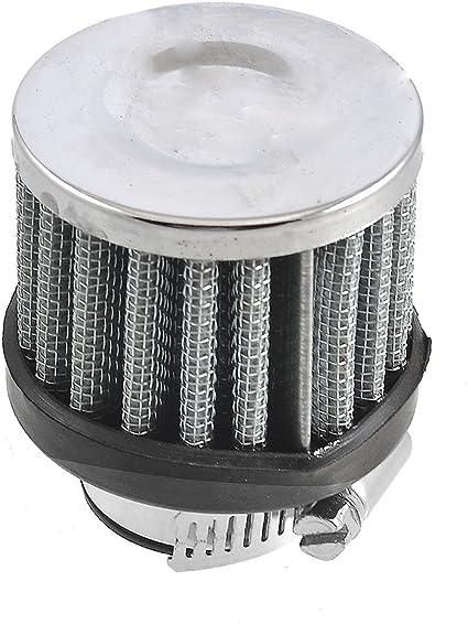 Sourcing Map Auto Luft Ansaugfilter Ansaugfilter Luftfilter 25mm 1 Silber Rund Filter Auto