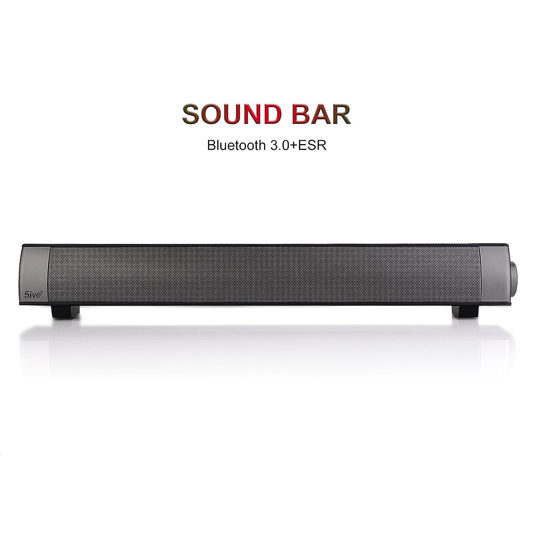 Amazon.com: 5ive IP Bluetooth Soundbar, 25W Wireless Bluetooth 3.0 ...