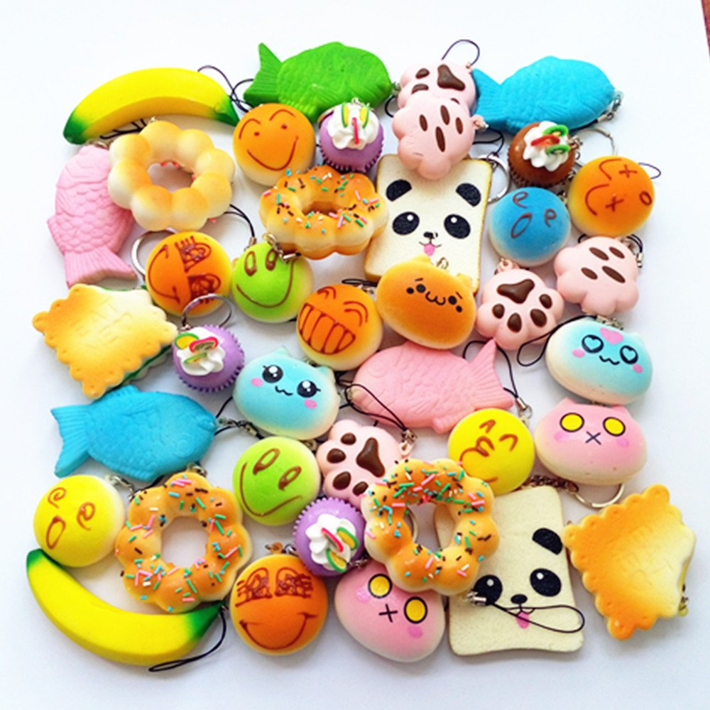 Squishy Toys Pictures : Specifications: Material: PU Color & Pattern: Shipped Randomly Packageincludes: 10 Squishy toys ...