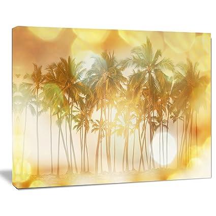 amazon com design art pt12507 20 12 palms in serene tropical