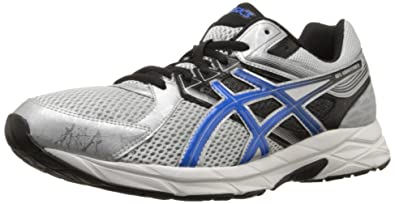 ASICS Men's Gel Contend 3 Running Shoe, Silver/Electric Blue/Black, 7