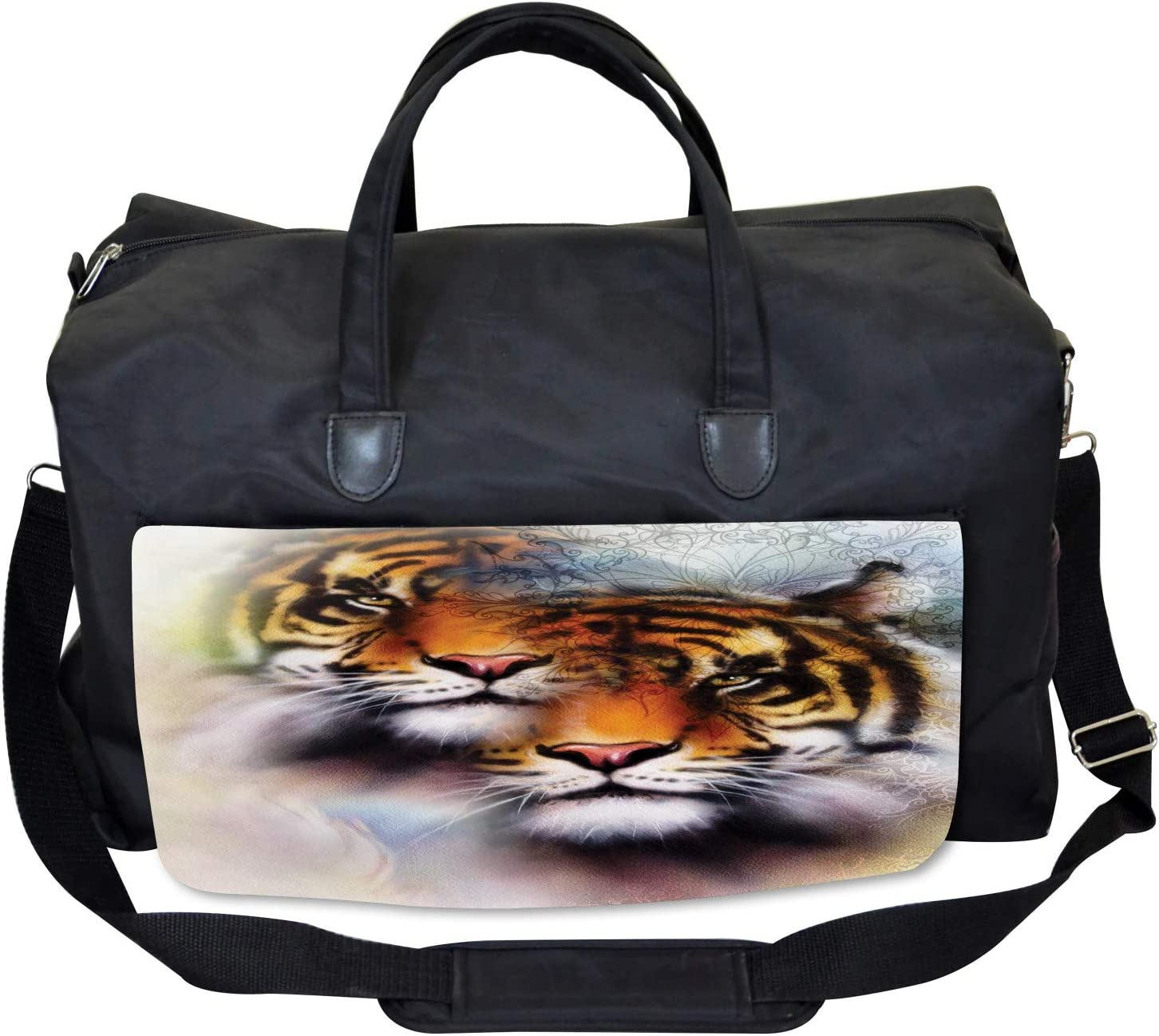 Wildlife Safari Animals Ambesonne Mandala Gym Bag Large Weekender Carry-on