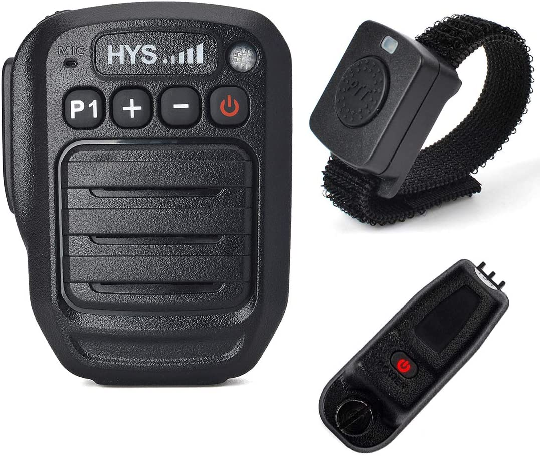 HYS IP66 Waterproof Wireless Bluetooth Shoulder Speaker Microphone with Wireless Finger PTT for Motorola MOTOTRBO XPR-6550 XPR-7350 XPR-7550