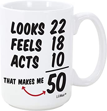 Fifty Years Old Men Gifts Mug - Gift for 50 year olds in their 50s