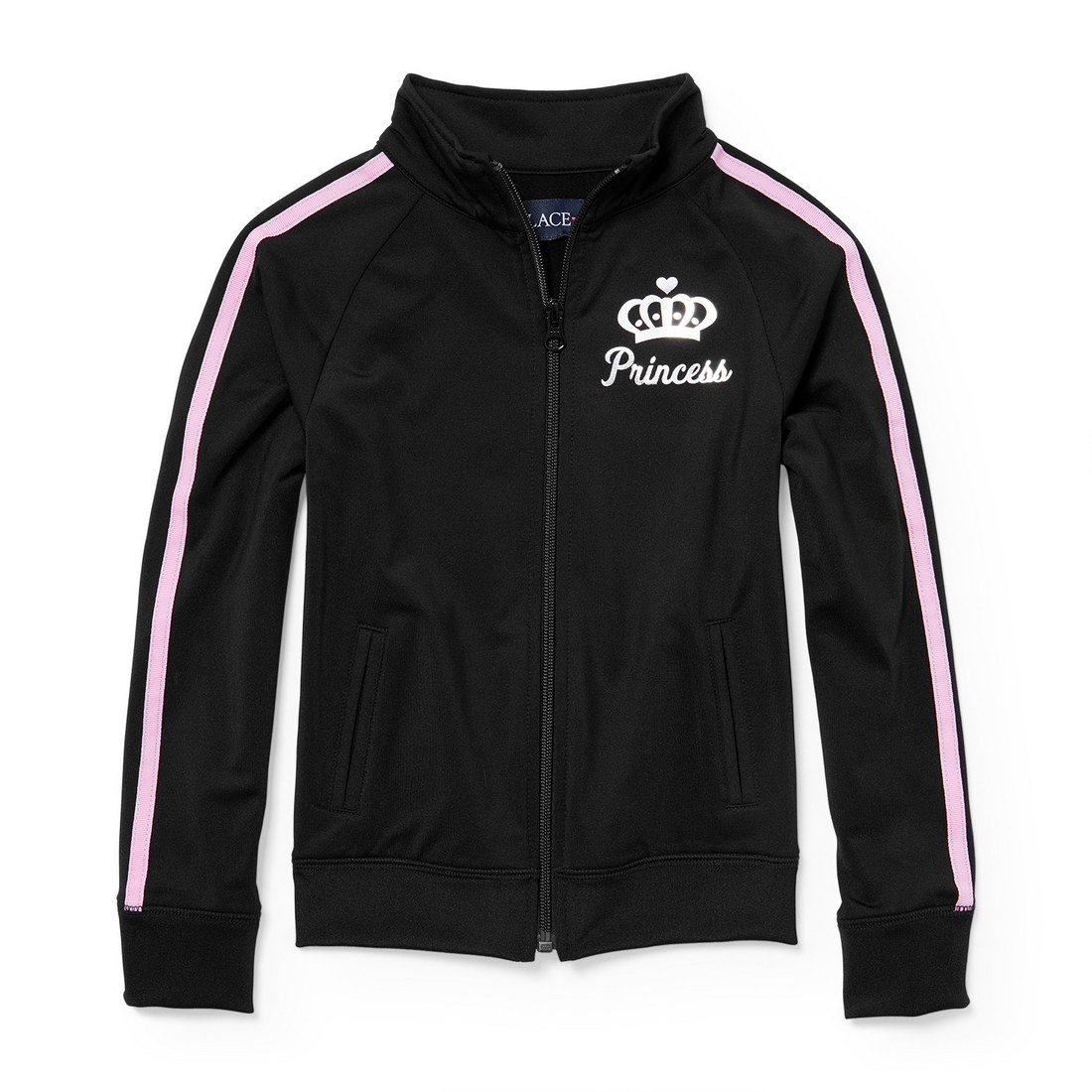 The Children's Place Big Girls' Track Jacket, Black 5952, M (7/8) by The Children's Place