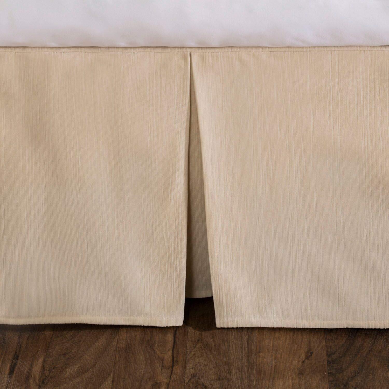 High-End Grey Modern Dust Ruffle Shop Bedding Tailored Velvet Bed Skirt with Split Corner 21 inch Drop King