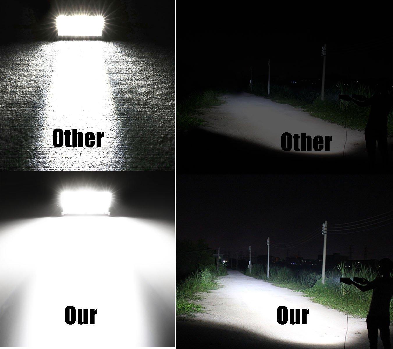 Moso LED 7 126W LED Light Bar LED Fog Light LED Driving Light Waterpoof Spot Work Light Off Road Lights for Truck Jeep Pick up SUV ATV UTV Motorcycle Boat Marine LED Pod Light