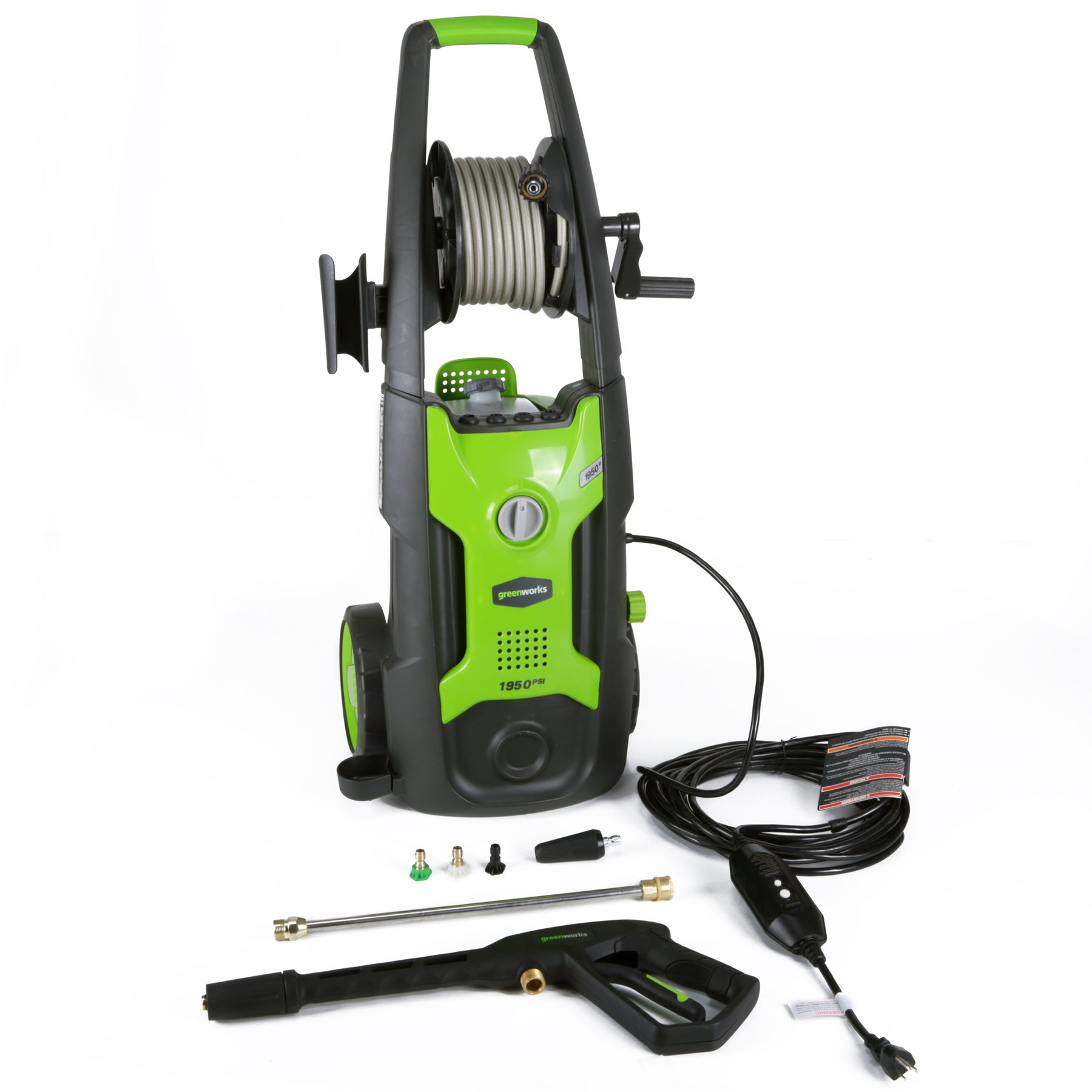 Greenworks 1950 PSI 13 Amp 1.2 GPM Pressure Washer with Hose Reel GPW1951