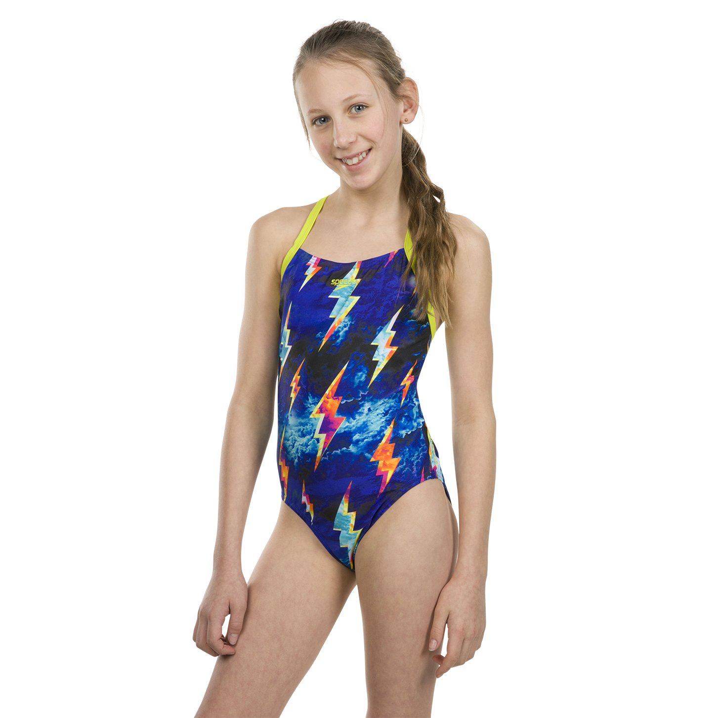 Speedo Strike Flash Placement Digital Crossback Ba/ñador Ni/ñas