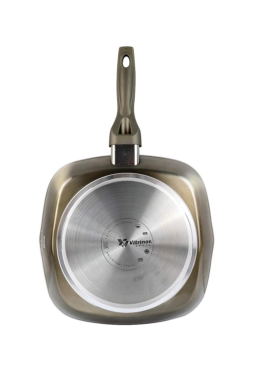 Magefesa Quartz Sartén de Aluminio Forjado. Full Induction. Mango Soft Touch, Metal