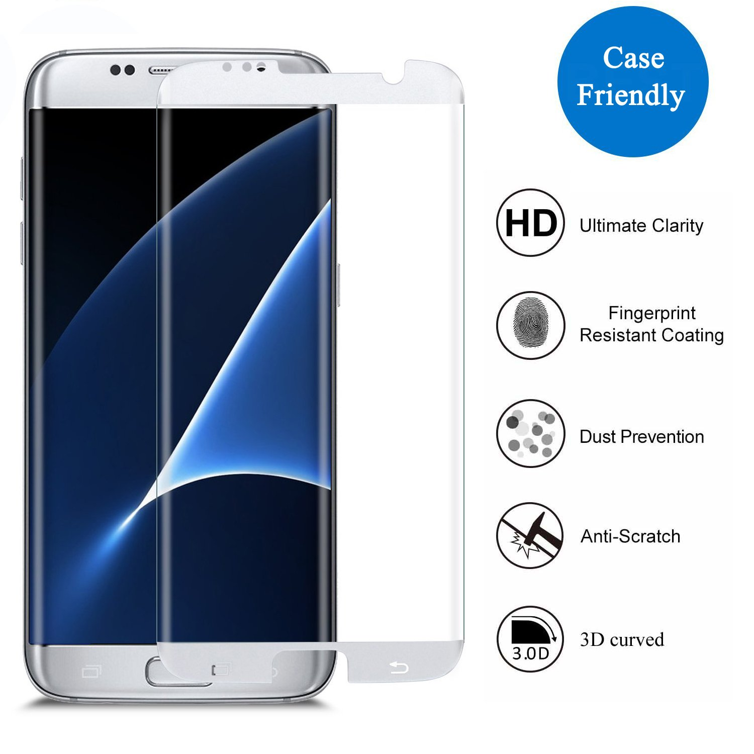 Samsung Galaxy S7 Edge Displayschutzfolie 3H Amazon Elektronik