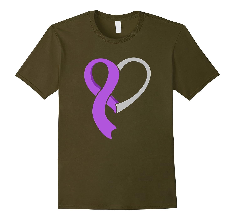 Heart Ribbon T-Shirt Epilepsy Awareness Shirt-T-Shirt