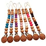 Jarsh Baby Wooden Beaded Pacifier Clip Chain